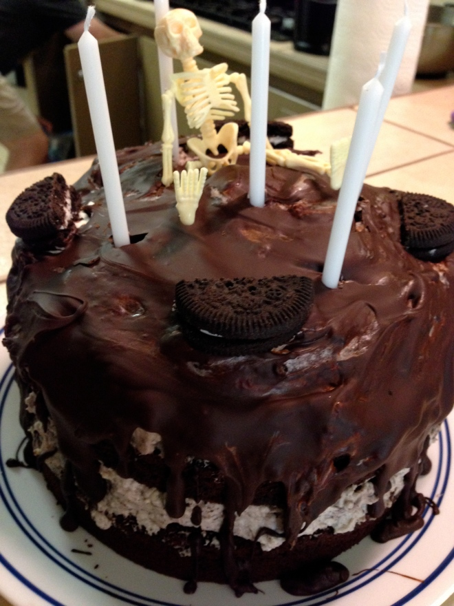 Brilliant Gluten Free Oreo Birthday Cake Woo Woo Mommy Personalised Birthday Cards Bromeletsinfo